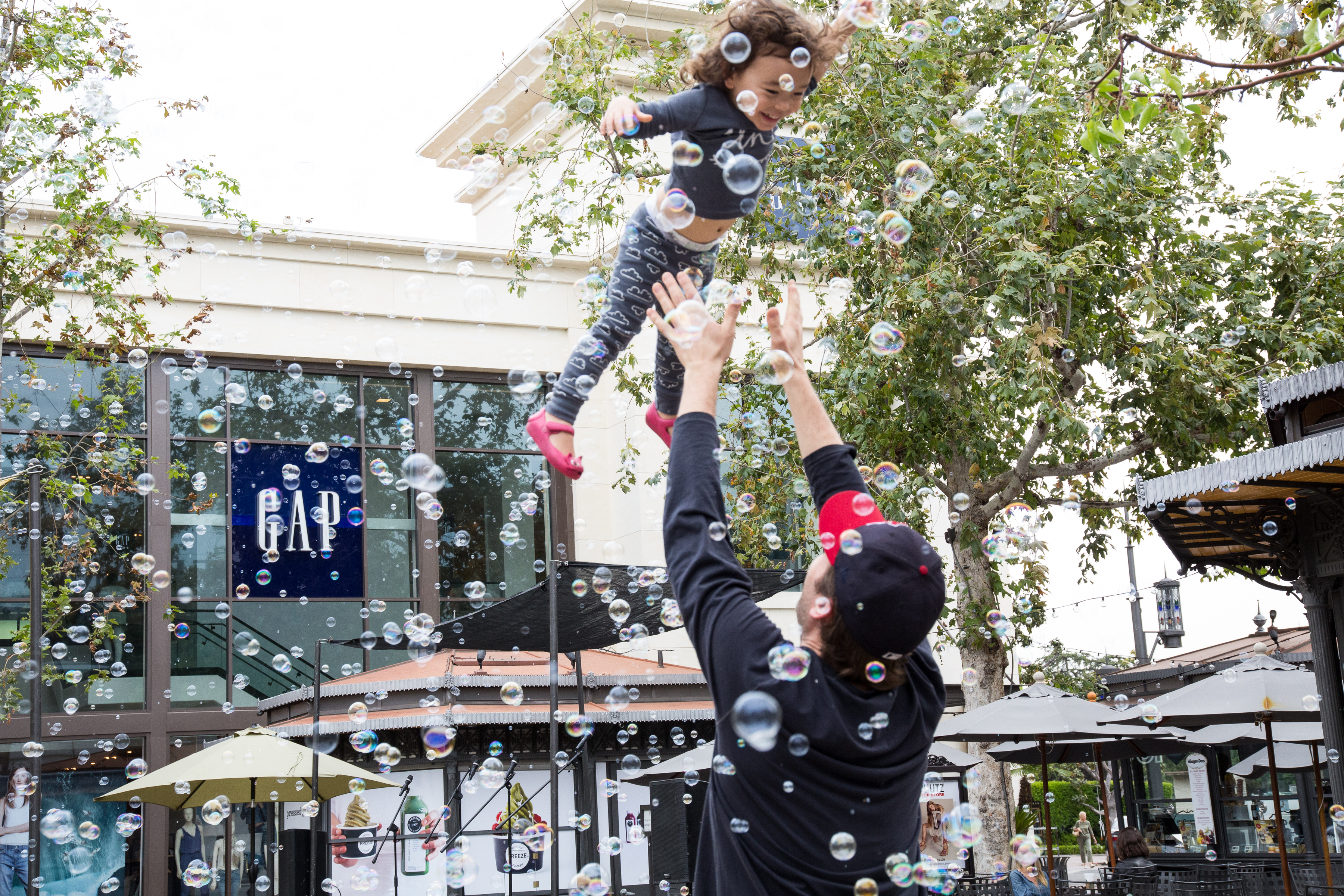 Bubble Show at The Grove in Los Angeles